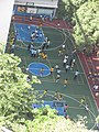 HK Mid-levels 薄扶林道 Pok Fu Lam Road 香港潮商學校 Chiu Sheung School 學校操場 Playground students n teacher November 2017 IX1 01.jpg