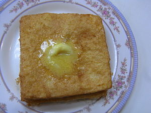 Bing sutt - French toast in Bing Sutts are very popular where butter and syrup are usually served with it