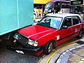 HK Wan Chai Gloucester Road Luard Road Taxi kiss 01 traffic accidence Nov-2012.JPG