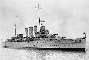 HMS Cornwall (56) - Image: HMS Cornwall (56)