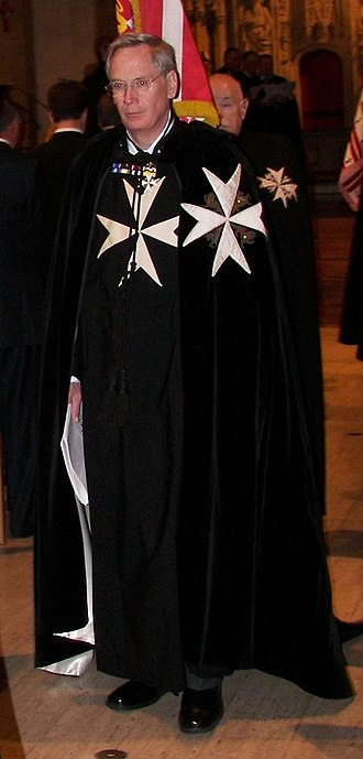 Prince Richard, Duke of Gloucester - The Duke of Gloucester at Christ Church Cathedral in 2006, robed as Grand Prior of the Order of Saint John.