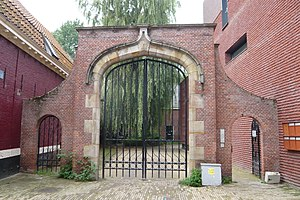 Anton Heyboer - Old gate of the St. Elisabeth Gasthuis - the path leads to the Zonnesteeg, where Anton first lived with Elsa and Josef Santen