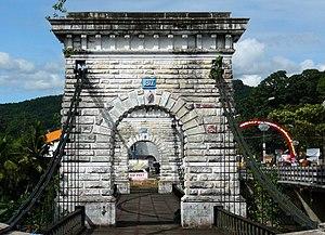 Punalur Suspension Bridge - Image: Hanging bridge P1030495