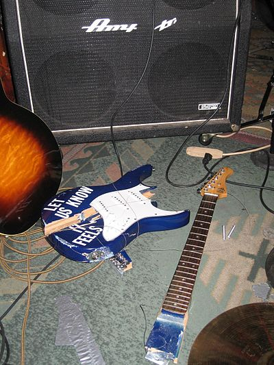 A broken guitar. Hank's - Shattered Guitar.JPG