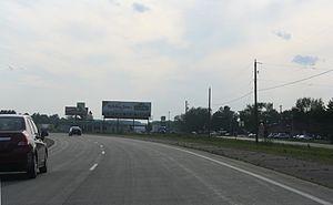 Hatley, Wisconsin - Looking west at Hatley along WIS 29