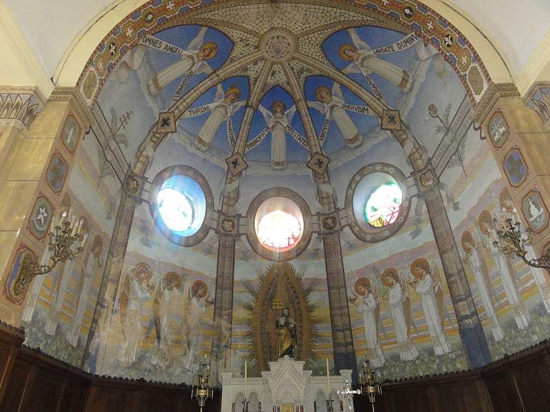 Haudiomont (Meuse) église Saint-Urbain frescos du choeur