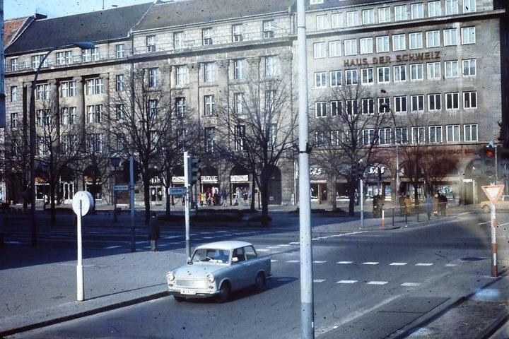 Haus der Schweiz, Unter den Linden at FriedrichStrasse, East Berlin, February 1975