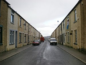 Byelaw terraced house - Opening directly on the street, which is 11m wide – as per the Act