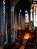 Interior of Heinz Chapel as viewed from the balcony