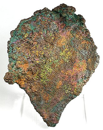 Kings Mountain, North Carolina - Oxidized botryoidal Hematite with a distinctive multi-colored patina, from Crowders Mountain Iron Prospect near Kings Mountain