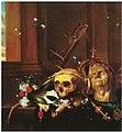 Hendrick Andriessen - Vanitas still life with skull and Roman bust.JPG