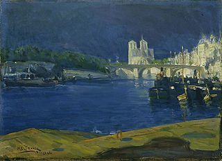 View of the Seine, looking toward Notre Dame
