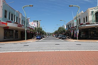 Heretaunga Street - View along Heretaunga Street from Russell Street in a south-east direction