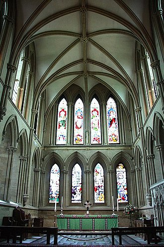Lancet window - Image: High Altar geograph.org.uk 1428606