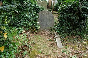 William Kingdon Clifford - Marker for W. K. Clifford and his wife in Highgate Cemetery (c. 1986)