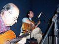 Hilario Pérez y Fabian Pintos, grabando en el disco de De La Vieja Estirpe.jpg
