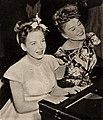 Hildegarde performing with Diana Lynn, 1946.jpg
