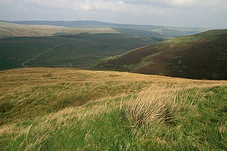 Hill farming - An example of hill farming countryside in the UK