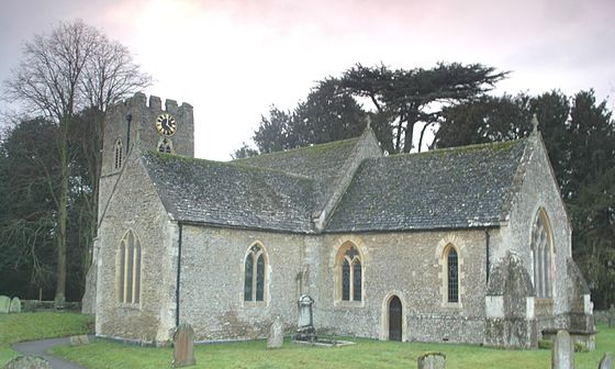 Hinton Waldrist, where Williams spent a good part of his youth. HintonWaldrist StMargaretTheVirgin south-east.JPG