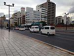 Hiroshima Electric Railway tramcar-5000 on Aioibashi Bridge 2.JPG