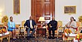 His Majesty King Letsie III, King of Lesotho and Her Majesty Queen Masenate Mohato Seeiso meeting the President, Shri Ram Nath Kovind, at Rashtrapati Bhavan, in New Delhi on January 02, 2018.jpg