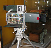 Historical television camera in technical museum