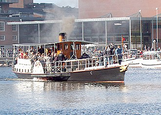 "Silkeborg Municipality - Hjejlen (""The Golden Plover"") is an historic steamboat that sails from Silkeborg to Himmelbjerget."