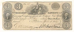 Robert Swartwout - Hoboken Banking and Grazing Company Bank Note