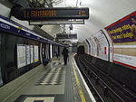 The westbound Piccadilly line track and platform at Holborn station in 2008