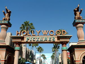 Hollywood Land - Original Hollywood Pictures Backlot entrance in 2008