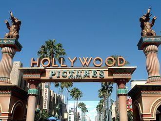 Hollywood Land - Original Hollywood Pictures Backlot entrance in 2008