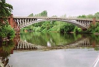 Holt Fleet Bridge bridge in Worcestershire, UK