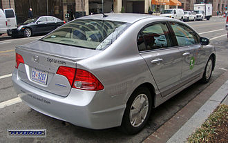 Zipcar - The Honda Civic Hybrid is part of Zipcar's clean fuel vehicle fleet.