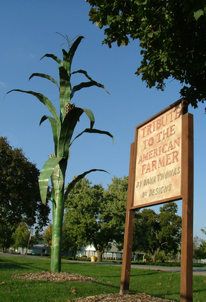 A tribute to farmers in Hoopeston, Illinois
