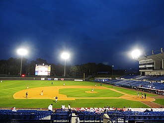 Hoover Metropolitan Stadium - Image: Hoover Metropolitan Stadium at Night