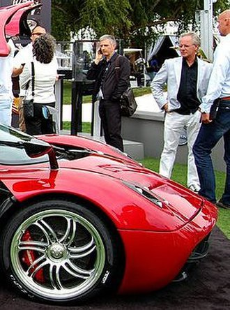Horacio Pagani (auto executive) - (second from the right, white jacket), 2012