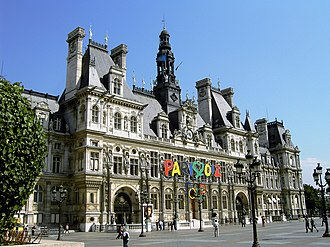 Paris bid for the 2012 Summer Olympics - Image: Hotel de Ville de Paris Olympic Bid