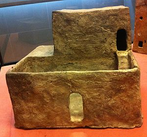 Middle Kingdom of Egypt - Clay model of a Middle Kingdom house. Musée du Louvre.