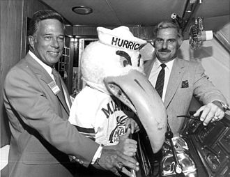 Miami Hurricanes football - Howard Schnellenberger (right) after winning the 1983 national championship