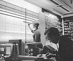 Human computers - a computer in the control room at JPL tracks Mariner 2 - reached Venus in 1962.jpg