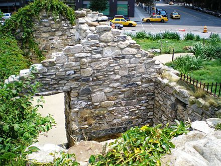 At the corner of Vesey Street and North End Avenue is the Irish Hunger Memorial HungerMemorialNumber6.JPG