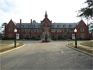 Red Lady of Huntingdon College - Flowers Hall at Huntingdon College in Montgomery, Alabama