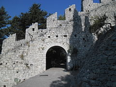 Hvar city walls (Croatia).JPG