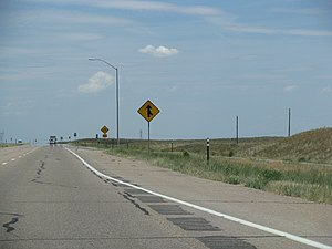 Interstate 76 (Colorado–Nebraska) - I-76 near Brush