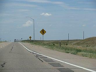 Interstate 76 (Colorado–Nebraska) - I-76 near Brush