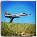 IAI Dagger que quedo como Gate Guardian en la base aerea de Tandil (8508073633).jpg