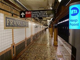 Franklin Street station (IRT Broadway–Seventh Avenue Line) New York City Subway station in Manhattan