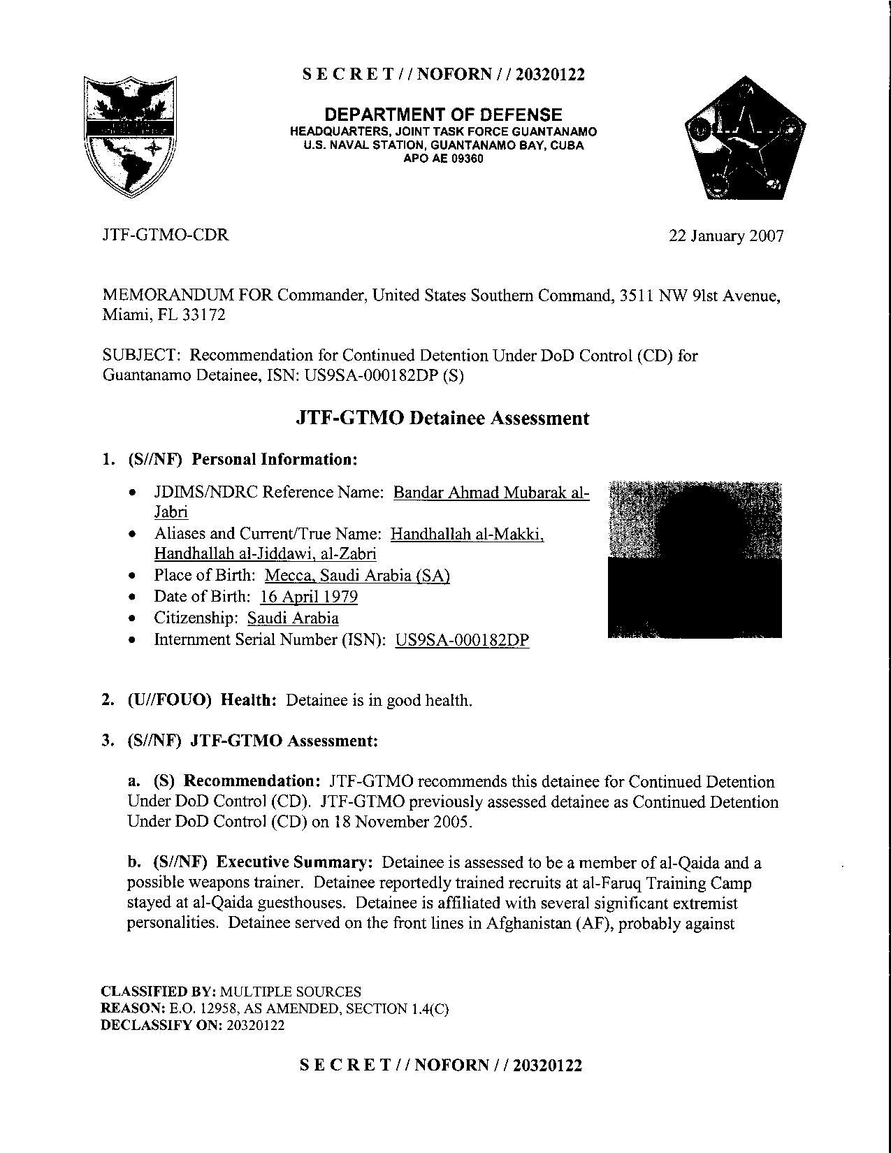 ISN 182's Guantanamo detainee assessment.pdf