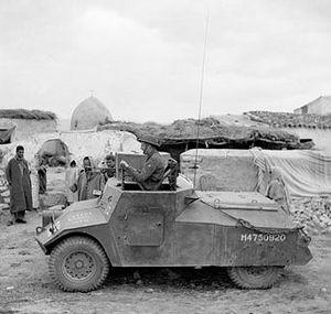 Morris Light Reconnaissance Car - Morris LRC of the RAF Regiment, Tunisia, 30 March 1943.