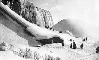 American Falls - Image: Ice mountain at American Falls (1891)
